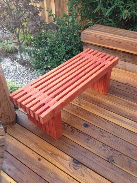 Deck Bench Plans No Back