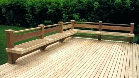 Deck Benches With Backs Plans