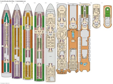 Deck Plan Of Carnival Paradise