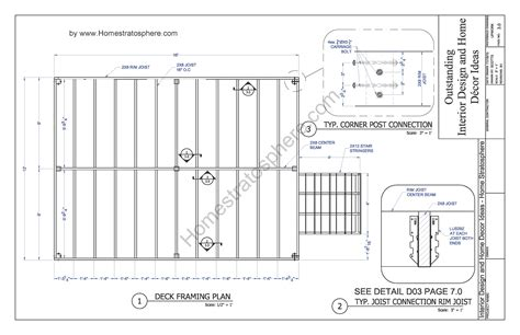 Deck Plans And Designs For A 16 X 12