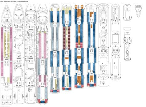 Deck Plans Costa Mediterranea