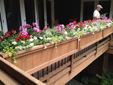 Deck Rail Flower Planter Boxes Plans