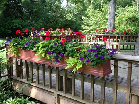 Deck Railing Flower Box Plans