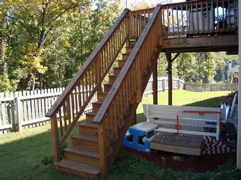 Deck Stair Railing Plans Now Wood