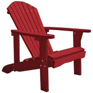 Decko-Red-Composite-Adirondack-Chair