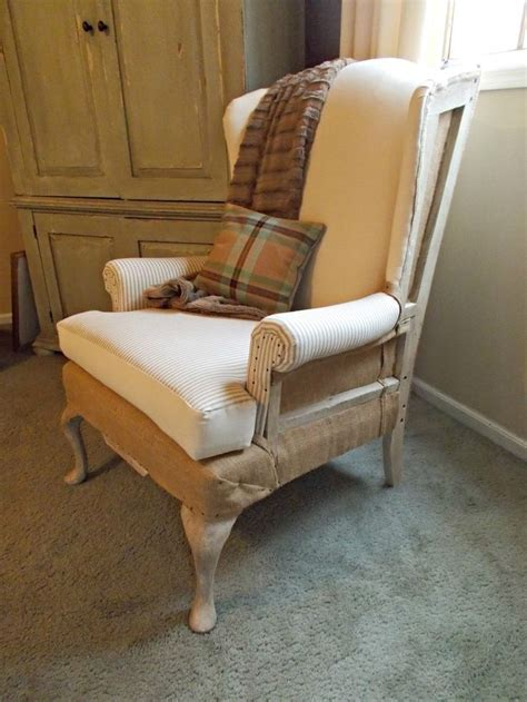 Deconstructed Wingback Chair Diy