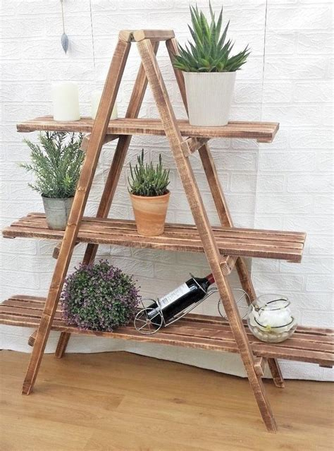 Decorative Wooden Ladder Shelf