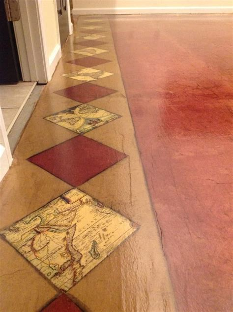 Decoupage Floors With Pictures