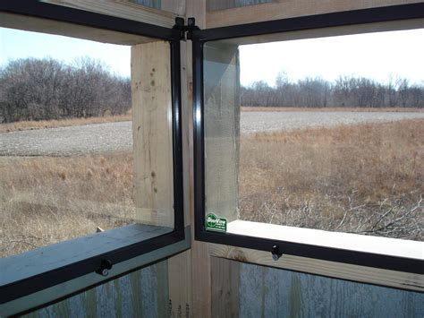 Deer Blind Window Plans