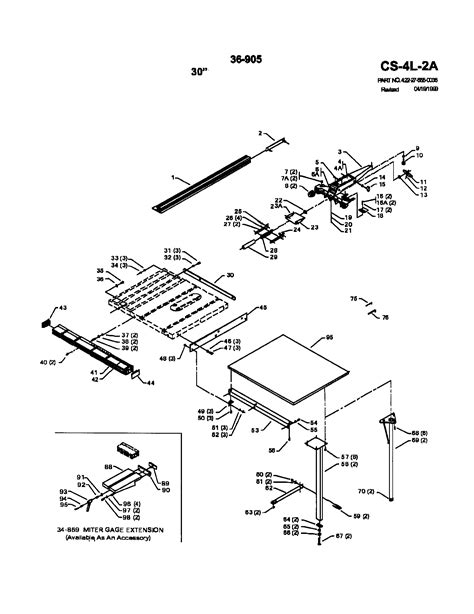 Delta 10 Table Saw Parts List