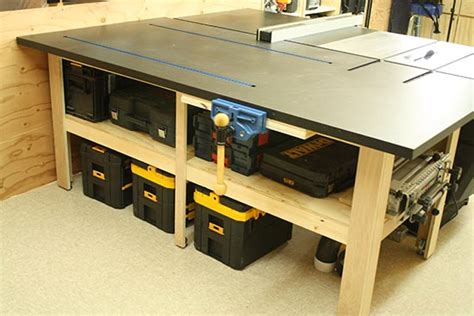 Delta Table Saw Outfeed Table Plans