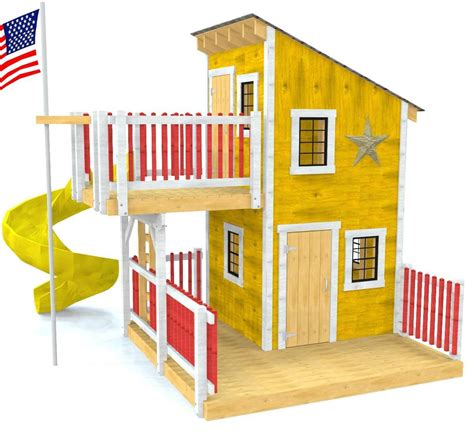 Deluxe Playhouse Floor Plans With Loft