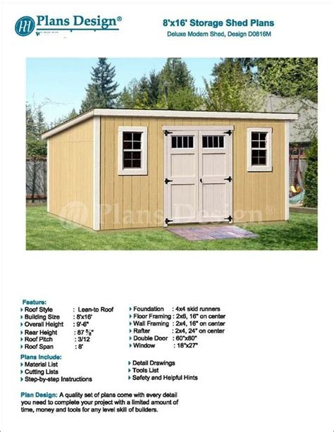 Deluxe-Shed-Plans
