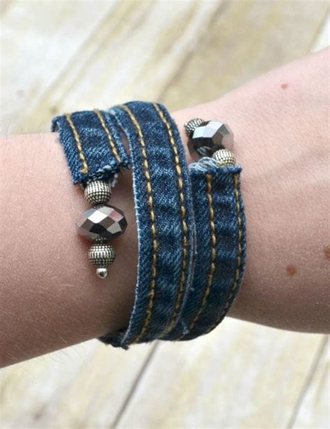 Denim Bracelet Diy
