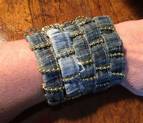 Denim Bracelet Diy Stretch