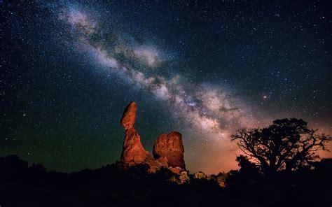 Desert Night Sky Milky Way Galaxy