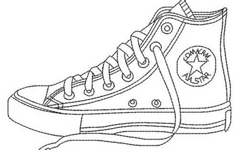 Design A Sneaker Coloring Page Converse