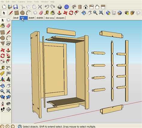 Designing Woodworking Projects Sketchup Tutorials
