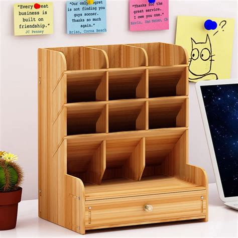 Desk Organizer DIY Standup Multi Function