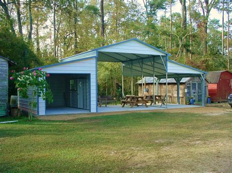 Detached Garage Floor Plans With A Lean To Shelter For Horses