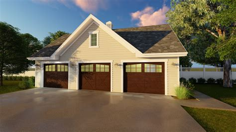 Detached Triple Garage Plans