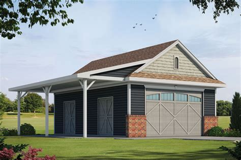 Detached garage plans with covered porch Image