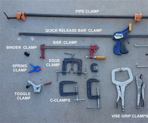 Different Types Of Woodworking Clamps