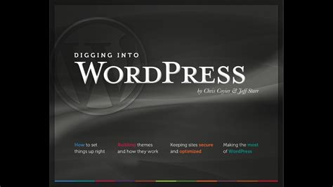 @ Digging Into Wordpress Ebook.