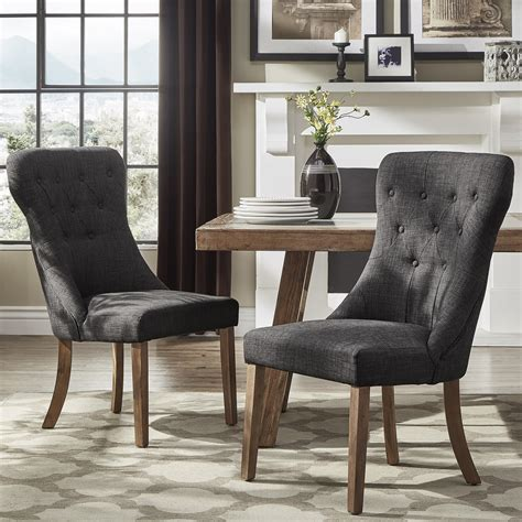 Dining Chair Walmart Tufted Gray