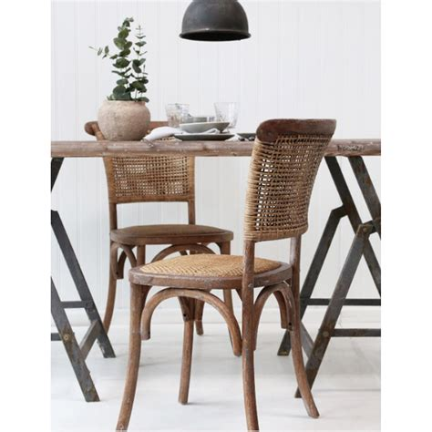 Dining Chair Wicker Seat