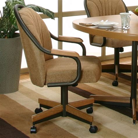 Dining Chair With Arms And Weels