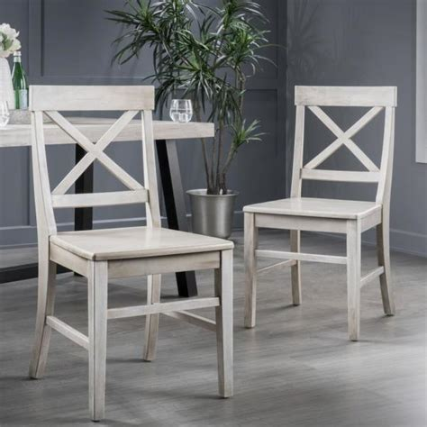 Dining Chairs Grey Wash Wood