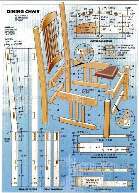 Dining Room Furniture Woodworking Plans