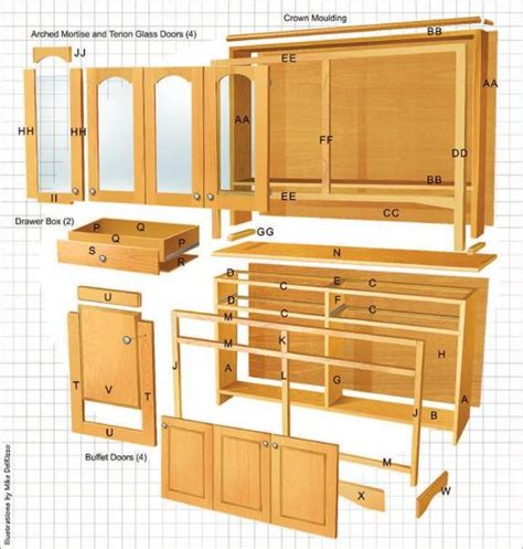 Dining Room Hutch Woodworking Plans
