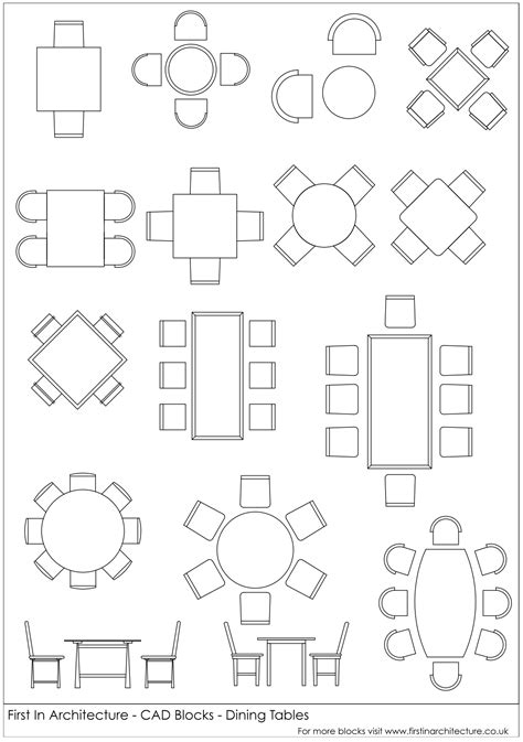 Dining-Table-Cad-Block-Plan