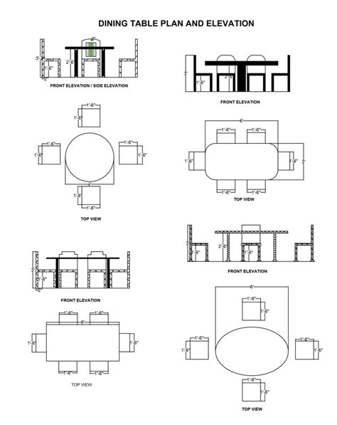 Dining-Table-Plan-Elevation