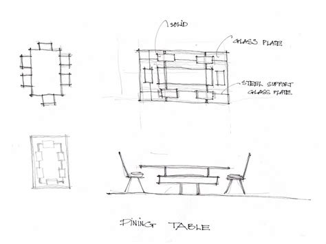 Dining-Table-Plan-Elevation-Section