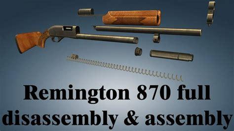 Disassemble Remington 870 Wingmaster And Suppressor Lube
