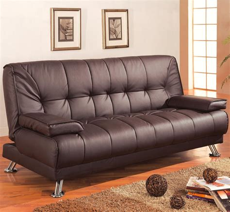 Discounts Brown Leather Sofa Bed