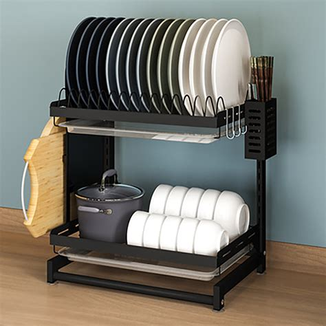 Dish Rack And Drainer For Kitchen