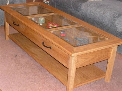 Display Coffee Table With Drawer
