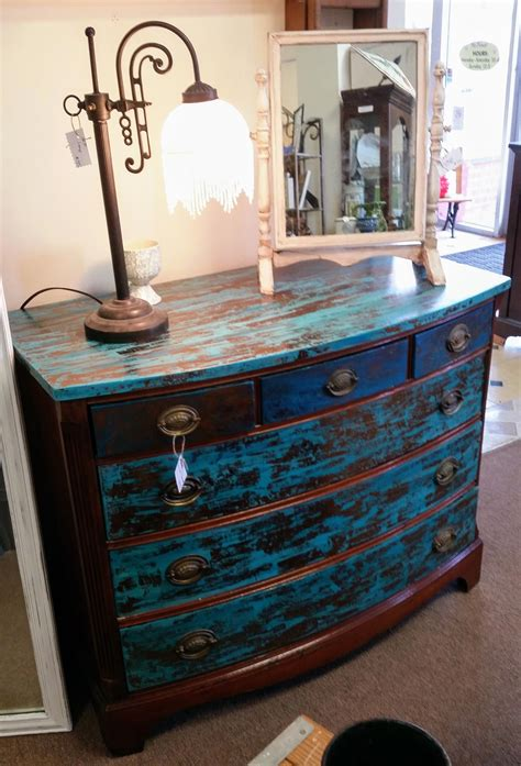 Distressed Blue Furniture Diy