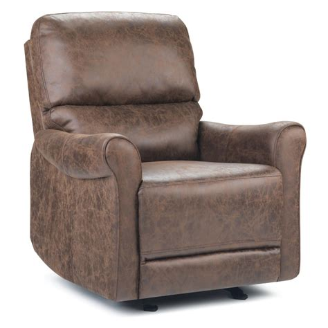 Distressed Brown Leather Recliner