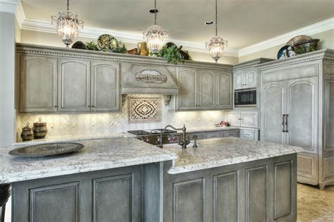 Distressed Cabinets In Grey And Brown Images