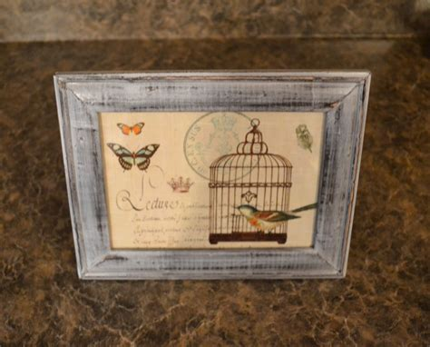 Distressed Picture Frame Diy Ornaments