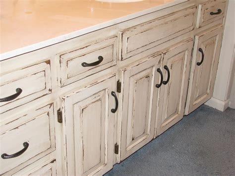 Distressed White Cabinets Diy