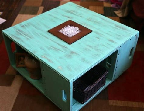 Distressed White Coffee Table Diy With Crates