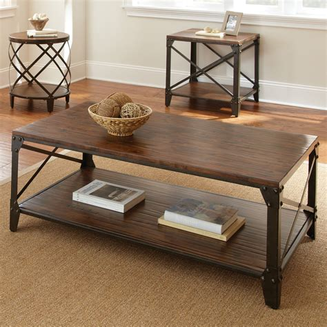 Distressed Wood And Metal Coffee Table Plans