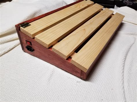 Distressed Wood Finish Diy Guitar Pedal Board