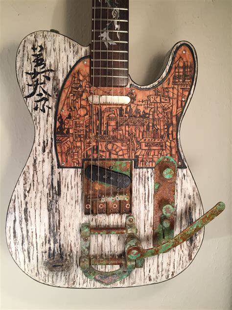 Distressed Wood Guitar Finish Diy Newspaper Log